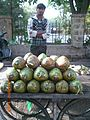 Coconut Seller out side Law Garden, Ahmedabad.JPG