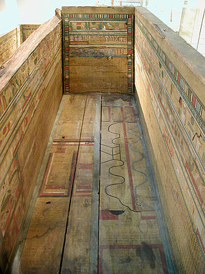 Coffin Texts - Middle Kingdom sarcophagus with the Coffin Texts painted on its panels