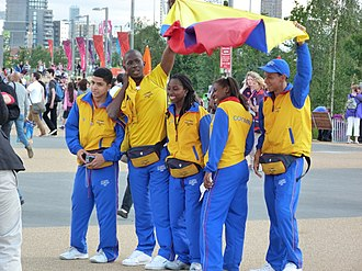 Colombia at the 2012 Summer Olympics - Colombian competitors at the Olympic Park.