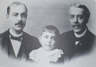 Eli Lilly - Colonel Eli Lilly (right) with son Josiah K. Lilly Sr. (left) and grandson Eli Lilly (center)