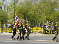Colours guards of RTNA in the royal funeral procession of Princess Bejaratana Rajasuda.JPG
