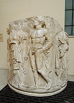 Column drum from Artemis at Ephesus - replica in Pushkin museum 01 by shakko.jpg