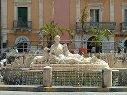 The Fountain of Diana in Comiso.