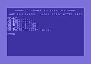 BASIC - Commodore BASIC v2.0 on the Commodore 64