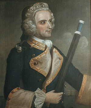 Sir Charles Knowles, 1st Baronet - Commodore Charles Knowles Portrait of him when Governor of Louisburg, hangs in Portsmouth Atheneum