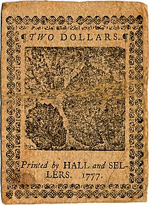 Continental Currency $2 banknote reverse (May 20, 1777).jpg