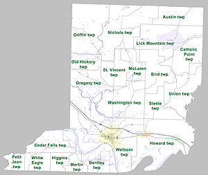 Conway County, Arkansas - Townships in Conway County, Arkansas as of 2010