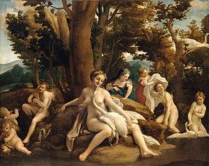 Antonio da Correggio - Leda and the Swan (c. 1532)