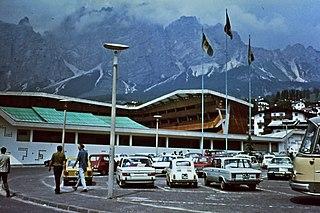 Stadio olimpico del ghiaccio ice stadium at Cortina dAmpezzo, Italy