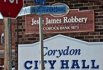 Corydon, Iowa - Image: Corydon Iowa Jesse James
