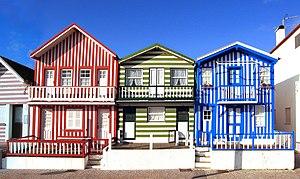 """Ílhavo - Praia da Costa Nova, typical houses """"Palheiros"""""""