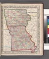 County map of the States of Iowa and Missouri. NYPL1510817.tiff