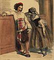 Couple de Parisiens en Carnaval vers 1840 - Par Paul Gavarni - Détail d'une lithographie coloriée.jpg