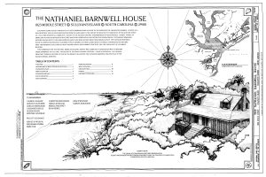 Cover Sheet - Nathaniel Barnwell House, 1023 Middle Street, Sullivans Island, Charleston County, SC HABS SC-875 (sheet 1 of 12).png