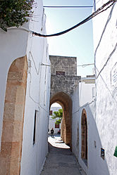 Covered alley in Lindos, Rhodes 4.jpg