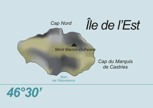 Île de l'Est - Map of the island