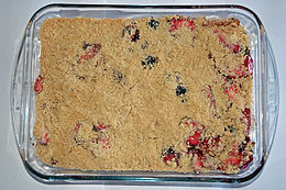 Un crumble di more e mele