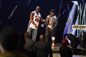 Cryme Tyme - Cryme Tyme in 2008 during Raw, looking at Mr. McMahon's million dollars