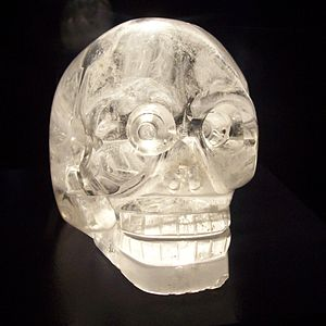 Crystal skull - Crystal skull at the Musée du quai Branly, Paris