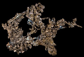 Fracture (mineralogy) - Native copper