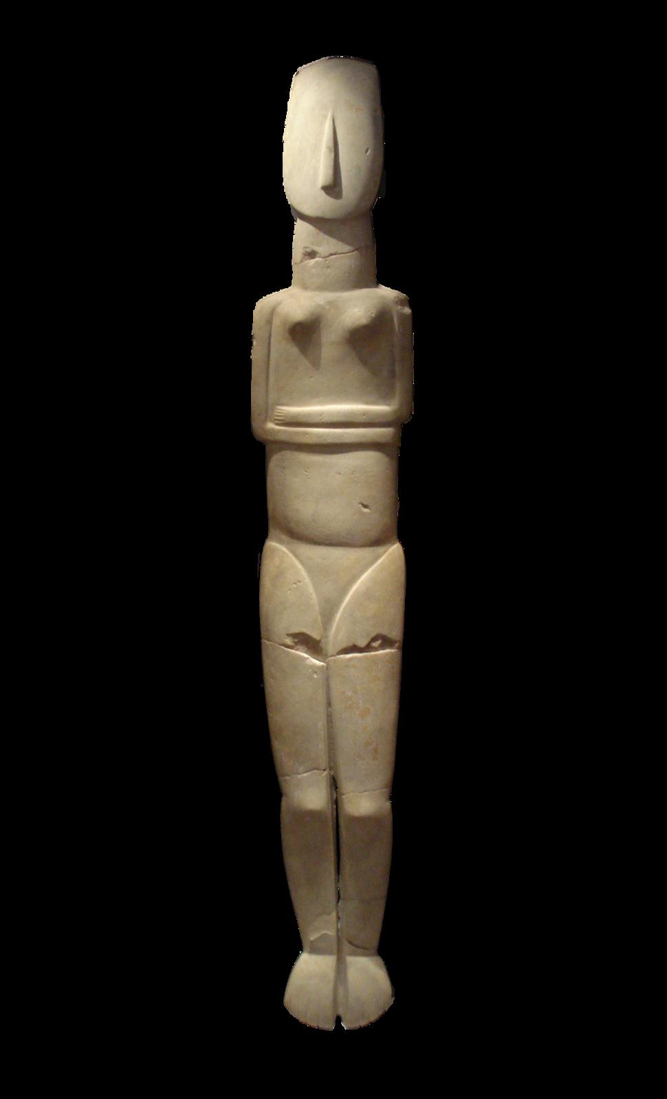 Cycladic idol large sin fondo