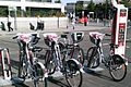 Cycle hire scheme at Slough railway station.JPG