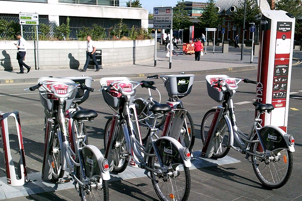 Cycle hire scheme at Slough railway station