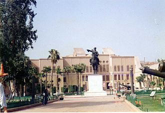Egyptian National Military Museum - Statue of Ibrahim Pasha at the entrance to the Egyptian National Military museum
