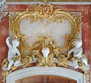 Johann Michael Graff - Image: Décor du salon dor (Palais de Rundale) (7656394248)
