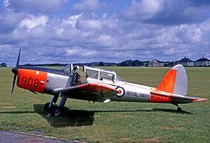 727 Naval Air Squadron - Royal Navy Chipmunk of the Britannia Flight at Plymouth in 1969
