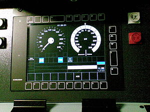 European Train Control System - ETCS – Driver display in STM mode for Class B system PZB