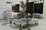 DSCOVR in Astrotech's payload processing facility, Titusville (KSC-2014-4582).jpg