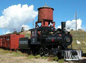 Denver, South Park and Pacific Railroad - Denver, South Park and Pacific engine in the South Park City Museum, Fairplay, Colorado