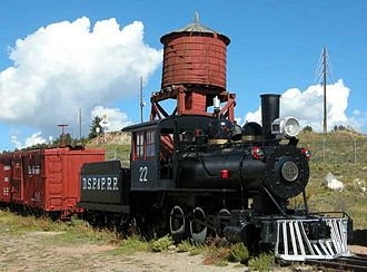 Denver, South Park and Pacific Railroad - Denver, South Park and Pacific engine in the South Park City Museum, Fairplay, Colorado
