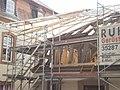 Dachrestaurierung Torhaus (Barockhäuschen) Uni-Reithalle Barfüßerstraße 1A Marburg, 2019-06-18.jpg