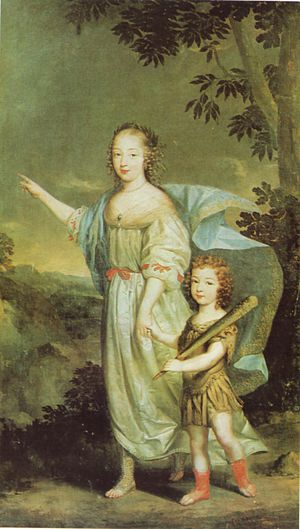 Marie de Rohan - Marie with her son Louis Charles; she poses as Diana and her son as Hercules