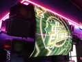 Dance Dance Revolution Extreme arcade machine marquee, lights and speakers.png