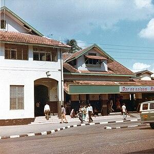 Rail transport in Tanzania - Dar es Salaam railway station in 1973.