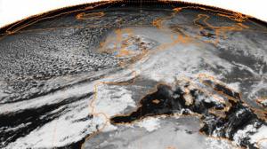 Burns' Day Storm - Image: Daria Meteosat 25Jan 19901130UTC