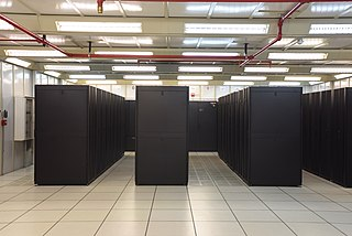 Data center Building or room used to house computer servers and related equipment