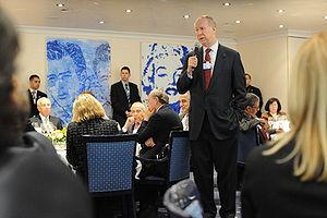 David Gergen at the 2008 World Economic Forum.