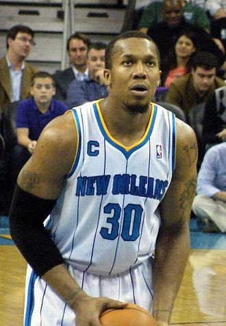 David West (basketball) - West with the New Orleans Hornets in 2011