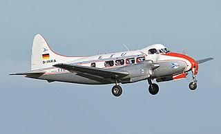 de Havilland Dove British short-haul airliner produced 1946–1967