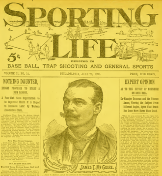 Deacon McGuire - McGuire on the cover of Sporting Life, June 1898
