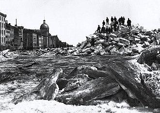 Rue de la Commune - Image: Debacle rue des Commissaires Montreal 1884