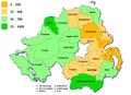 Demographics of Northern Ireland - Catholic Community 2001.png