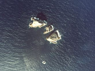 Denshima - Aerial view of the island. (1978)
