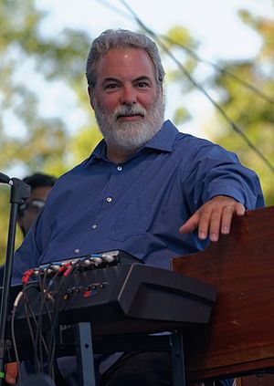 Dennis Drew - Drew performing with 10,000 Maniacs at Pittsford Park in Lake Forest in 2015