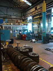 Depot interior, Tyne and Wear Metro depot open day, 8 August 2010.jpg