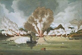 Battle of Tysami - Destruction of Chui A-poo's pirate fleet